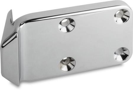 Schließkloben Zink-Druckguss, verchromt, rechts und links verwendbar, H 32 mm, für Falztüren