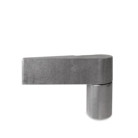Türband, 70.5 mm hoch, Stift 10 mm, rechts