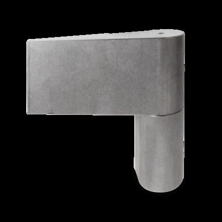 Türband rechts, 130,5 mm hoch, Stift 25 mm höhenverstellbar