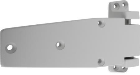Lappenscharnier Zink-Druckguss, EPS beschichtet grau RAL 7038, rechts, steigend, 24 mm Überschlag