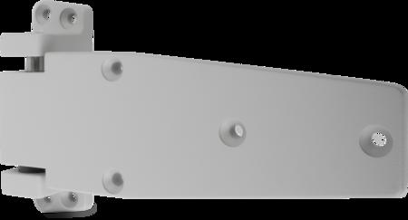 Lappenscharnier Zink-Druckguss, EPS beschichtet grau RAL 7038, links, steigend, 32 mm Überschlag