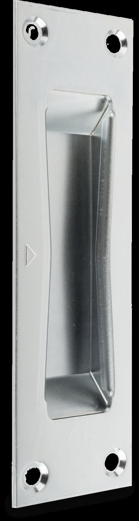Schließblech Stahl, verzinkt, rechts und links verwendbar, mit Kasten, für Einsteck-Schnecken-Schloß