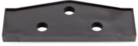 Unterlage Kunststoff, schwarz, rechts und links verwendbar, Höhe 6 mm