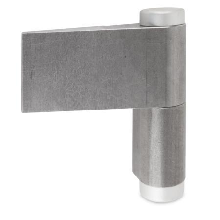 Türband rechts, mit Kabeldurchführung Innendurchmesser 14 mm mit Abdeckkappen - Gesamthöhe 150 mm
