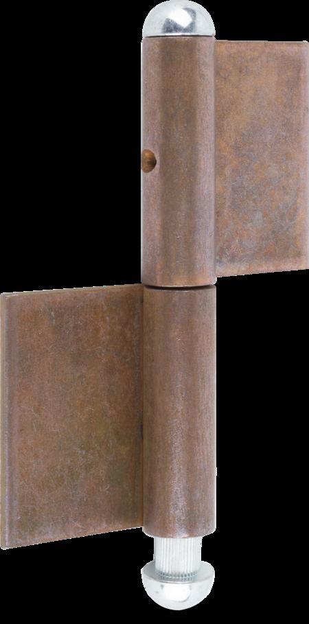 Konstruktionsband Stahl blank 80 x 30 x 8 x 3 mm, Halbrundknopf und Stahlstift weiß cB verzinkt, lose beigepackt