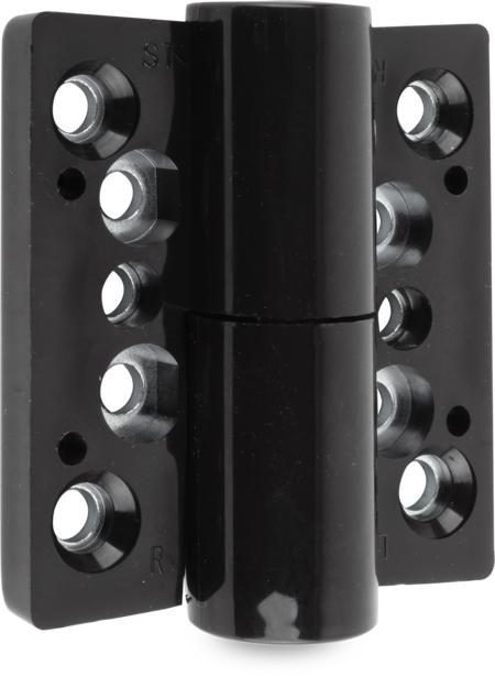 Band Polyamid mit festem Stift, DIN rechts, H=76 mm B=72 mm, Farbe schwarz