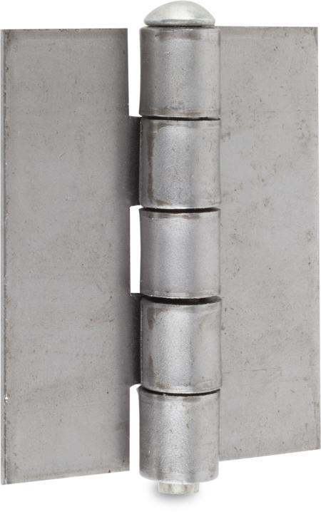Scharnier Stahl blank, Stift lose Stahl weiß cB verzinkt, 75 x 60 x 6,5 x 3 mm