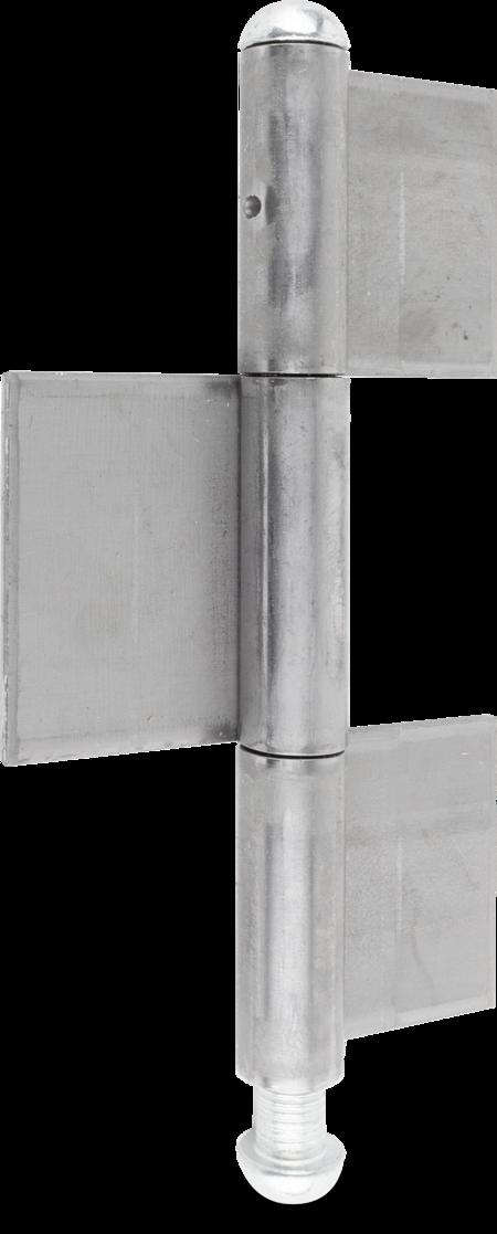 Konstruktionsband 180 x 14 x 4, Stahl blank, mit losem verzinbktem Stift