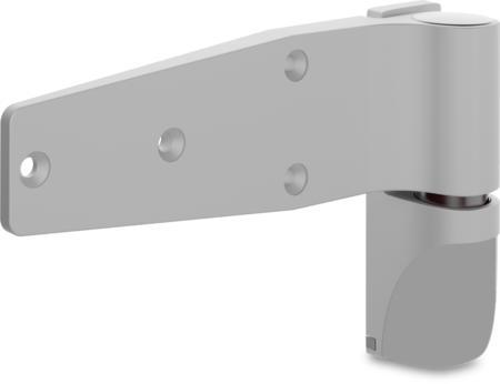 """Lappenscharnier """"Varioflex"""" für bündige Türen mit Aushebesicherung, steigend, höhenverstellbar, rastbar aushängbar, RAL 7038 achatgrau"""