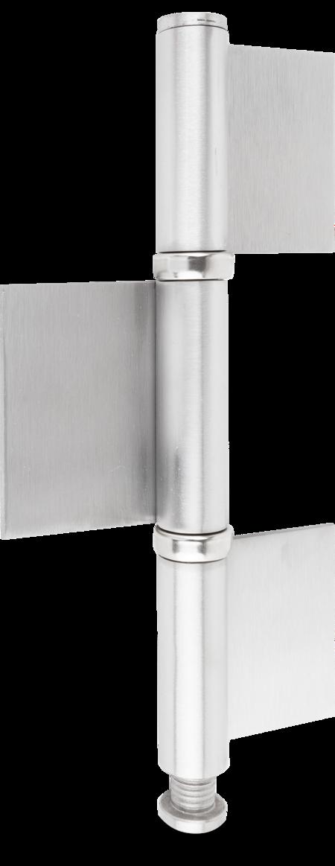 Konstruktionsband 3-tlg. Edelstahl rostfrei mit Kugellagerlaufringen matt gebürstet 220 x 14 x 4 mm