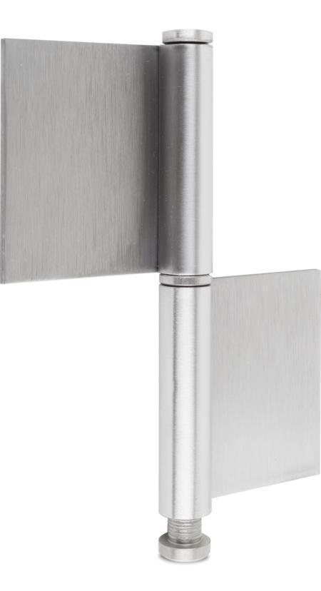 Konstruktionsband Edelstahl rostfrei mit losem Stift und Ring 140x50x10x3 mm