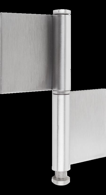 Konstruktionsband Edelstahl rostfrei, mit losem Stift und Ring, 140 x 50 x 10 x 3 mm
