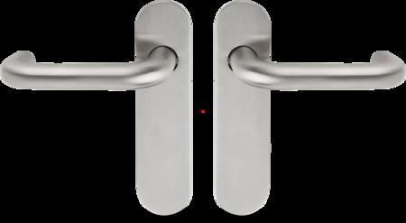 FS- Drückergarnitur, 9 mm Vierkantstift ohne PZ- Lochung, ohne Zubehör Edelstahl