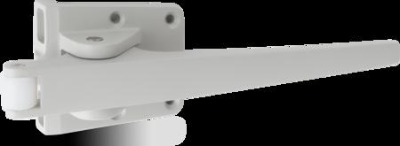 Außenhebel Aluminium, EPS beschichtet grau RAL 7038, rechts und links verwendbar, für Falz- und Aufliegende Türen