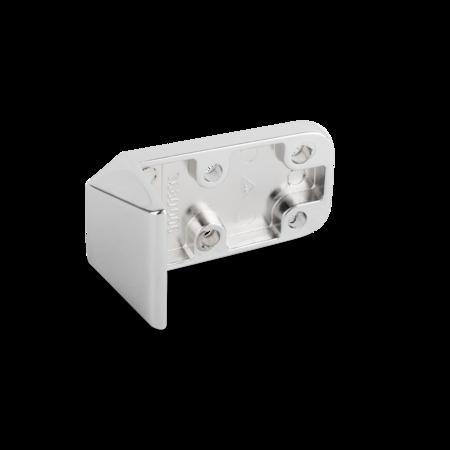 Kloben Zink-Druckguss, verchromt, rechts und links verwendbar, für Falztüren, Überschlag 32 mm