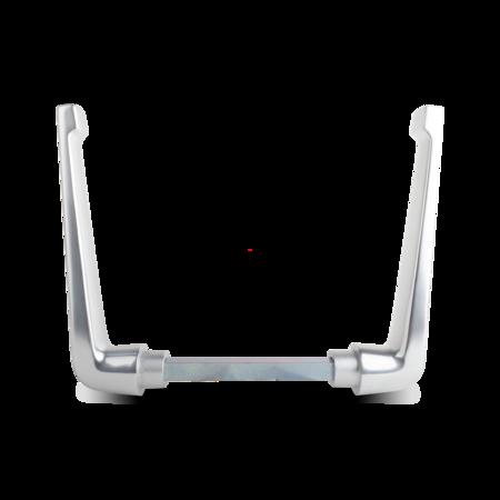 Drückerpaar Aluminium, EV 1 eloxiert, rechts und links verwendbar, 16 mm Vierkantstift, Türstärke max. 150 mm