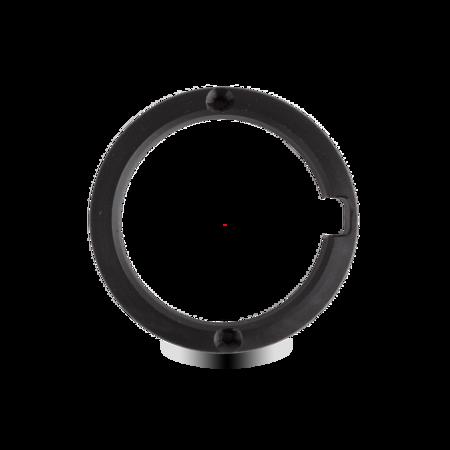 Unterlage Kunststoff POM, schwarz, rechts und links verwendbar, für Türaussenseite, Höhe 13 mm, inklusive 2 Schrauben ST 2,9x25