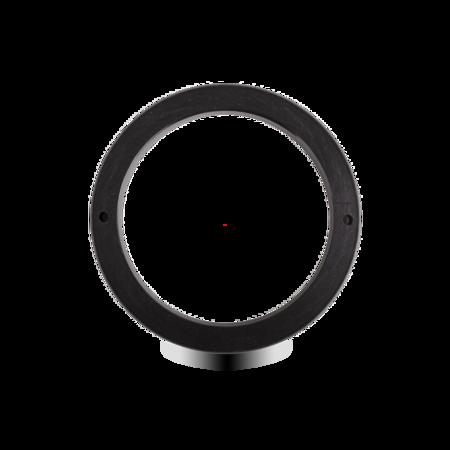 Unterlage Kunststoff POM, schwarz, rechts und links verwendbar, für Türinnenseite, Höhe 10 mm