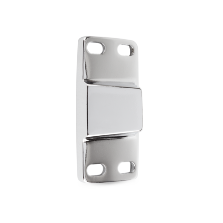 Schließkloben Messing, verchromt, rechts und links verwendbar, für aufliegende Türen, einstellbar