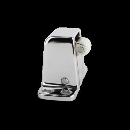 Verschlusselement Zink-Druckguss, gleitgeschliffen, verchromt, rechts und links verwendbar, Anpressdruck ca. 90 N, Kunststoff-Rolle