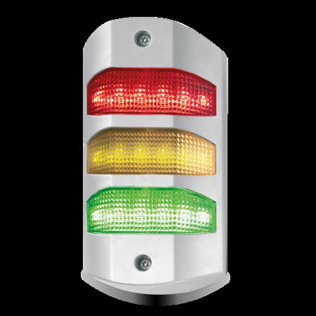 Dreikammerkontrollleuchte LED, rot, amber, grün, Gehäuse GD ZN