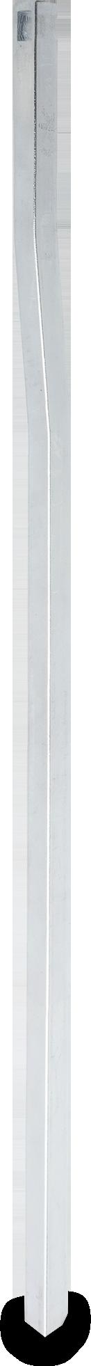 Stange Stahl, verzinkt, rechts und links verwendbar, Vierkant 8 mm, gekröpft, L = 400 mm