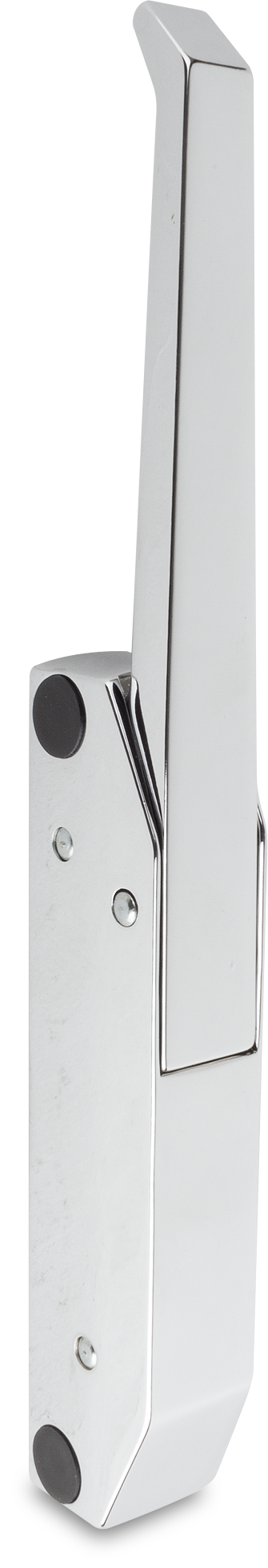 Türverschluss Zink-Druckguss, verchromt, rechts und links verwendbar, ohne Zylinder, seitliche Montage
