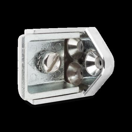 Kloben Zink-Druckguss, verchromt, rechts und links verwendbar, 28 mm Überschlag, einstellbar