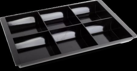 Kasseneinsatz Gr. IV Kunststoff, schwarz, 295 x 195 x 35 cm