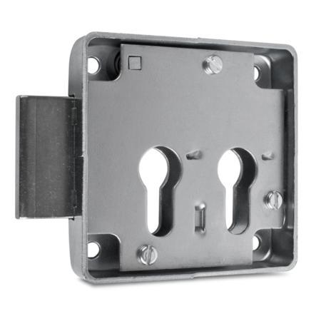 Kastenriegelschloss 2 PZ, Dornmaß 33 + 66 mm, einfacher Abzug, rechts
