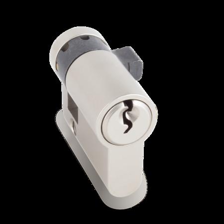 Profilhalbzylinder verschiedenschließend, Schließnase 8-fach verstellbar, B = 30,5 C = 40,5 mm, mit 2 Schlüsseln