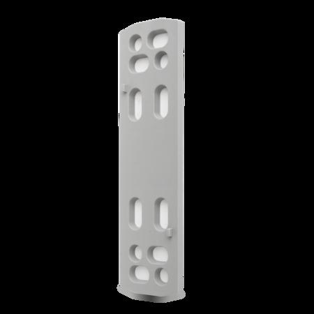 Unterlage Kunststoff PA6, grau ähnl. RAL 7037, rechts und links verwendbar, Höhe 5 mm
