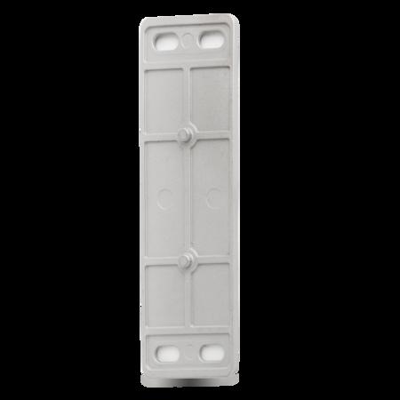 Unterlage MAXIFLEX Edelstahl, gesandstrahlt, rechts und links verwendbar, stapelbar, einstellbar, Höhe 4 mm